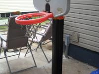 Basketball hoop for sale - missing 1 wheel but still