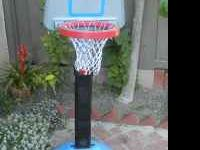 american plastics adjustable kids basketball hoop.