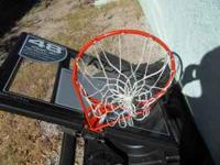 48 inch portable basketball system. Retails for $299.99