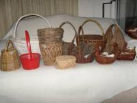 Assorted baskets...all shapes and sizes. Priced to sell