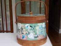 Decorative bucket perfect for storage for baby or