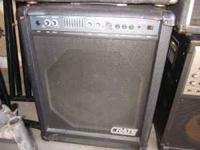 Crate BX-100 Bass Amp for $100 and LTD B-50 ESP Black