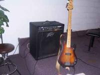 4 string G & L (by fender) Bass Guitar with hard shell