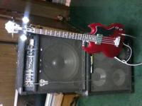 Ibanez bass with strap and 2 amps sounds great but