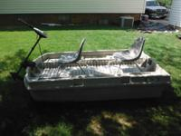 a 2 seater with minn kota trolling motor. Not brand-new