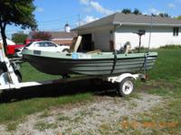 12ft Ultima Pelican Bass Boat w/2 seats.  Includes