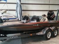 2015 Bass Cat boat for sale, 200 hp Mercury Motor 45