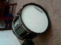 I have a black dynasty bass drum 20 inch. Evans heads.