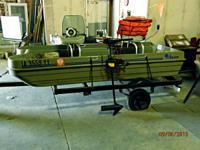 $800/OBO Flat bottom fishing boat. Complete with