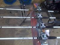 I have 4 abu Garcia veritas rods with daiwa laguna
