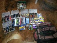 Tacklebox box full of bass fishing stuff. My uncle was