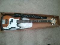 Never been used Greg Bennet 4 string Bass for sale