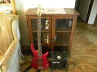 Ibanez bass guitar with small Ibanez amp to go with it.