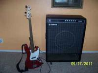 Bass guitar and amplifier set-up for sale. Both