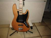i have 2 fender squier jazz bass for sale1 natural