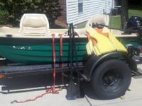 Boat is 9 feet 4 inches, has fold down swivel seats,