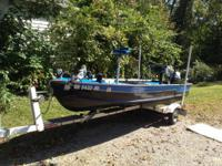14' john boat converted to small bass boat several