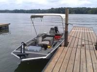 1989 Bass Tracker boat and trailer for sale. 20 HP