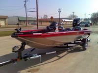 2012 Red Bass Tracker Pro 175 TXW with a 75 HP Mercury