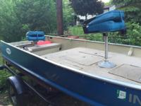 14 ft Allumacraft bass boat with 9.9 evinrude 4stroke