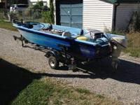 14 ft Gamefisher Tri-Hull Fishing Boat with a 9.5