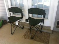 Two fold up small chairs from Bass Pro Shops for