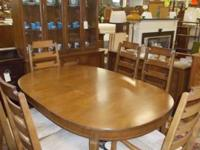 Nice Bassett 9 piece dining-room established. There is