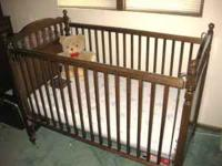 """Bassett"" baby crib w / mattress, $60.00 OR BEST OFFER"