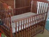 For sale: $100 obo cherry wood bassett crib and