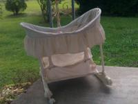 Green & off white. Used for baby dolls. Needs a bath