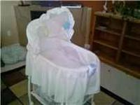 all white bassinet with storage unit underneath! asking