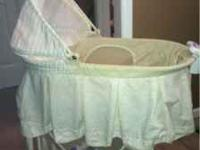 Like new bassinet has vibrations and music and bed can