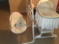 Like new, bearly used, bright star motorized swing,