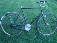 3 Speed front and rear drum brakes, missing seat. If
