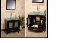 "Palermo 30"" vanity set. Espresso or Chestnut Solid"