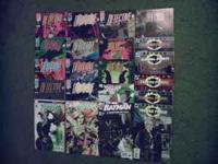 Various Batman comic books for sale. Detective Comics