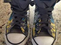 Size 2 youth special edition Batman Converse!!!  Very
