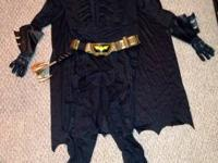 Full Batman costume- size Large. Worn only once, new