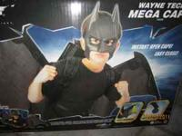 Batman Adjustable wings and cape with mask Instant Open