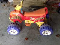 Dora the Explorer ATV for sale. About five years old.