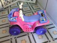 selling a small battery powered barbie four wheeler. my
