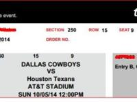 Battle for Texas!Cowboys vs Texans October 5th2