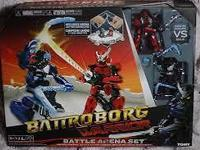 Awesome battling robo ninjas! Duplicate gift so brand