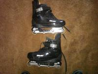 Pair of Bauer Sx/Frontside aggressive in-line skates.
