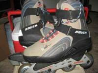 For sale : one pair of Baur in-line skates, size 10