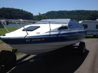 This is an 18' 1988 Bayliner Capri Cuddy Cabin 1501--