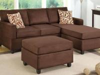 BAYSIDE SECTIONAL WITH OTTOMAN *Covered in a super soft