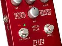 BBE Two Timer analog delay pedal, great sound great