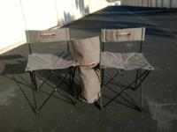 Set of (2) portable chairs with carrying case. > Great