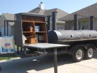 16 ft trailer with 10 1/2 ft smoker on one side and 4